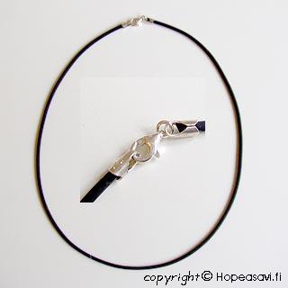 *Tarjous* Kaulaketju, kumia, lukko-osat sterling hopea 925, 2mm, 45cm