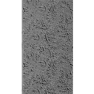 """Pintakuviointiin: Tekstuurilevy, joustavaa silikonia, 10x5cm, """"Kashmir kuviointi"""""""
