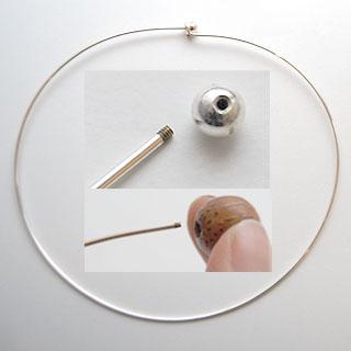 Kaulaketju, panta, hopeoitua messinkiä, 40cm, avattava ruuvi