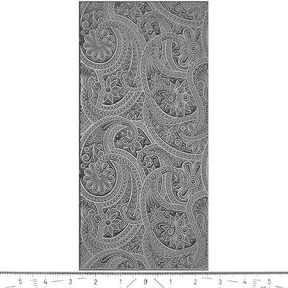 """Pintakuviointiin: Tekstuurilevy, joustavaa silikonia, 10x5cm, """"Kasmir -kuvio"""""""