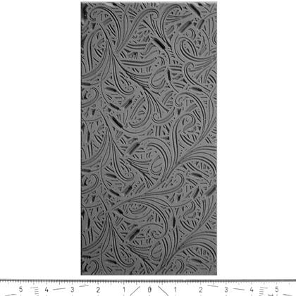 """Pintakuviointiin: Tekstuurilevy, joustavaa silikonia, 10x5cm, """"Kissanhännät"""""""