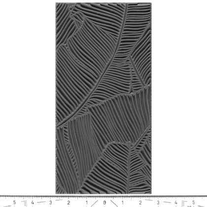 """Pintakuviointiin: Tekstuurilevy, joustavaa silikonia, 10x5cm, """"Viidakko"""""""