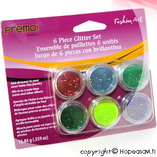 *TARJOUS* Glitter-kokoelma, kirkkaat värit: Punainen, Emeraldin vihreä, Lehtivihreä, Purppura, Minttu, Sininen, OVH 12.95