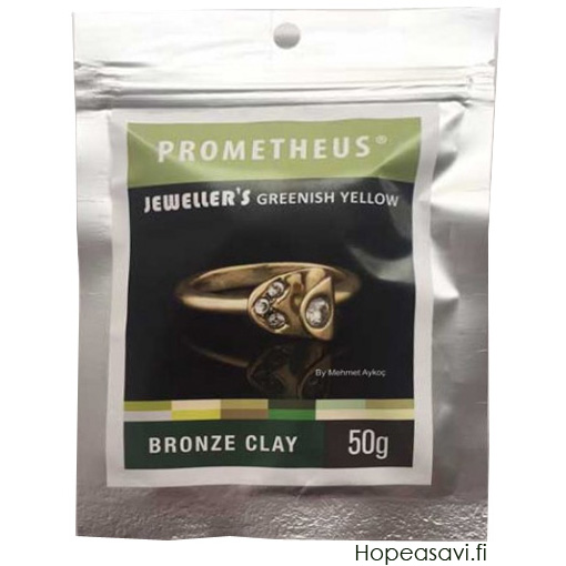 *Uutuus* Pronssisavi PBC: Prometheus Bronze Clay, Jeweller's Greenish Yellow Bronze, Vihertävän keltainen, 50g