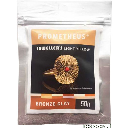 *Uutuus* Pronssisavi PBC: Prometheus Bronze Clay, Jeweller's Light Yellow, Vaalean Keltainen, 50g