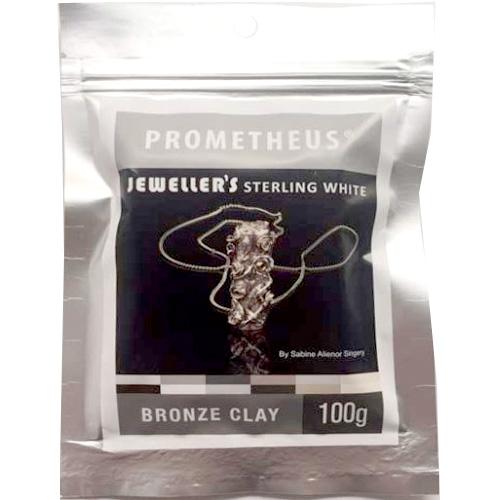 *Tarjous* Pronssisavi PBC: Prometheus Bronze Clay, Jeweller's Sterling White Bronze Clay, Valkoinen Pronssi 100g