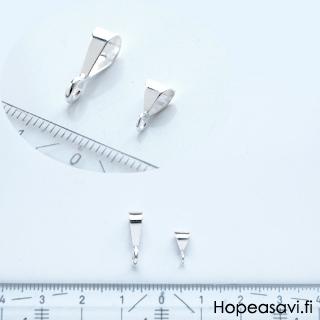 Riipuslenkki, hopea 925 (Sterling), kolmikulmainen, ulkomitta noin 9X4mm, sisämitta noin 5x3mm, 1 kpl