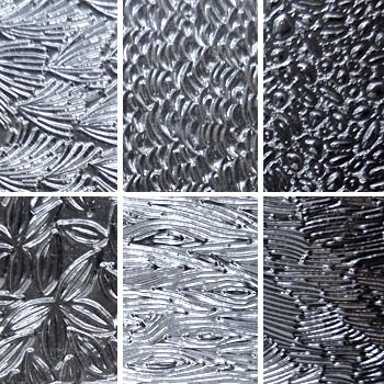 """Pintakuviointiin: Tekstuurilevyjä setti """"Artistinen A"""", 6 kpl, muovia, noin 11x9cm"""