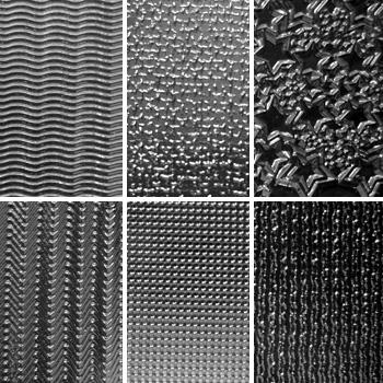 """Pintakuviointiin: Tekstuurilevyjä setti """"Artistinen D"""", 6 kpl, muovia, noin 13x11cm"""