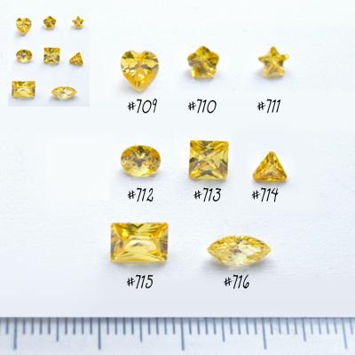*Mallikappale-poistoale* Kuutiollinen zirkonia, kuvassa #712, keltainen, ovaali, 6x4mm, 1 kpl