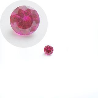 Synteettinen Rubiini, Tumma pinkki, pyöreä, 8mm, 1 kpl