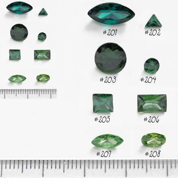*Mallikappale-poistoale* Kuutiollinen zirkonia, kuvassa #208, vihreä, OVAALI 6x4mm, 1 kpl, Huom: Ei kestä polttoa