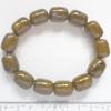*Mallikappale -poistomyynti* Luonnonkivi, mahd. Jaspis, ruskea, 13 helmeä joustavassa nauhassa (rannekoruksi tms.), helmen halkaisija noin 12mm