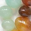 *Mallikappale-Poistomalli* Kivihelmi, akaatti, kuvassa #B-027, luonnonkaunis, mix väreja: ruskea-punainen, 'hunaja' & minttu, hiottuja helmiä, nuggetteja noin 15mm, 8 kpl kuin kuvassa