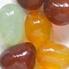 *Mallikappale-Poistomalli* Kivihelmi, akaatti, kuvassa #B-028, luonnonkaunis, mix väreja: ruskea-punainen, 'hunaja' & minttu, hiottuja helmiä, nuggetteja noin 15mm, 9 kpl kuin kuvassa