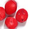 *Mallikappale-Poistoale* Kivihelmi, koralli, punainen, 8 kpl, noin 12x11x6 mm