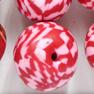 *Mallikappale* Helmi, Polymeerimassa, noin 16-20mm, punainen/valkoinen/mix, 14 kpl kuin kuvassa