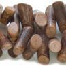*Mallikappale-Poistoale* Helmi, mahonkipuu, kuvassa #B-069, noin 10x4mm, 36cm nauha