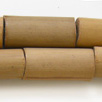 *Mallikappale - poistomyynti* Helmi, bambu, kuvassa #B-072, noin 20x8mm, reikä 4mm, 75cm nauha