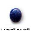 Lapis, tumman sininen (huom. luonnon kivien värisävyt vaihtelevat), kapussi, soikea 12x10mm (1 kpl)
