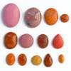 *Kapussi Mix* 'Ruusu' -kokoelma kuin kuvassa (luonnon/väri stabiloitu/syntteettinen), 14kpl, eri muotoja, koko noin 3x4mm-10x14mm