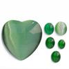 *Kapussi Mix* 'Vihreä Kissansilmä' -kokoelma kuin kuvassa (luonnon/väri stabiloitu/syntteettinen), 6kpl, eri muotoja, koko noin 8x6mm-34x34mm