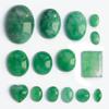 *Kapussi Mix* 'Aventuriini' -kokoelma kuin kuvassa (luonnon/v�ri stabiloitu/syntteettinen), 15kpl, eri muotoja, koko noin 3x4mm-13x18mm