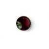 Granaatti (Garnetti), pyöröhiottu kapussi, 6mm, tasainen tausta, kaunis lämmin väri, 1kpl