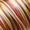 *Muuttoale* Lanka, satiinia, Viinitarha -sävyt, 1mm, 5m, helmitöihin, kumihimoketjuihin jne.