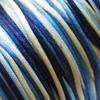 Lanka, satiinia, Sininen-vihreä sävy, 1mm, 5m (1x5m pussi), helmitöihin, kumihimoketjuihin jne.