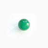 Akaatti, helmi, vihreä (väri kyllästetty), pyöreä, puoliväliinporattu, 6mm, 1 kpl