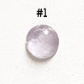 *Kivi Special* Ametisti, pyöröhiottu kapussi, pyöreä, kuvassa #1, läpimitta noin 9.0mm, paksuus noin 4.0mm, uniikki yksittäiskappale