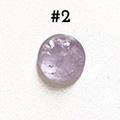 *Kivi Special* Ametisti, pyöröhiottu kapussi, pyöreä, kuvassa #2, läpimitta noin 9.5mm, paksuus noin 4.0mm, uniikki yksittäiskappale