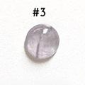 *Kivi Special* Ametisti, pyöröhiottu kapussi, pyöreä, kuvassa #3, läpimitta noin 9.0mm, paksuus noin 4.0mm, uniikki yksittäiskappale