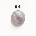 *Kivi Special* Ametisti, pyöröhiottu kapussi, pyöreä, kuvassa #4, läpimitta noin 8.5mm, paksuus noin 4.0mm, uniikki yksittäiskappale