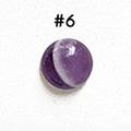 *Kivi Special* Ametisti, pyöröhiottu kapussi, pyöreä, kuvassa #6, läpimitta noin 8.5mm, paksuus noin 4.0mm, uniikki yksittäiskappale