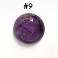 *Kivi Special* Ametisti, pyöröhiottu kapussi, pyöreä, kuvassa #9, läpimitta noin 12.5mm, paksuus noin 4.5mm, uniikki yksittäiskappale