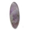 *Kivi Special* Ametisti, pyöröhiottu kapussi, vaalea, kiteinen, ovaali, noin 22.4x8.5mm, kuvassa #AT-06, 1 kpl