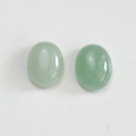 *Uutuus* Aventuriini, vaalea vihreä, värin sävy uniikki, soikea, 10x8mm, 1 kpl