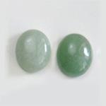 *Uutuus* Aventuriini, vaalea vihreä, värin sävy uniikki, soikea, 12x10mm, 1 kpl