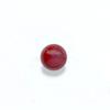 *Uutuus* Helmi, koralli, punainen (v/t), pyöreä, puoliväliin porattu, 6mm, 1 kpl