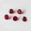 Synteettinen Garnet, punainen, pyöreä 4 mm, 5 kpl