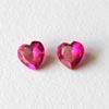Synteettinen Rubiini, Tumma pinkki, Sydämen muotoinen, 5x5mm, 2kpl