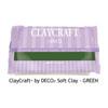 *Poistomyynti* DECO ClayCraft, pehmeä ilmassa kuivuva massa, VIHREÄ, noin 12x8x2cm, 55g, OVH 8.85
