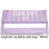 DECO ClayCraft pehmeä ilmassa kuivuva massa, valkoinen, noin 16x11x2.5cm, 137g