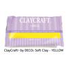 *Tarjous* DECO ClayCraft, pehmeä ilmassa kuivuva massa, KELTAINEN, noin 12x8x2cm, 55g