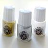 Glitter-kokoelma (glitteri, koristekimalle), 3 väriä: Kulta, Hopea ja Helmi (opaali), kätevissä annostelupulloissa