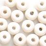 *Mallikappale-Poistoale* #PS10 -Posliinihelmiä, rondelleja, valkoinen, noin 9x4mm, 9 kpl