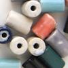 *Mallikappale-Poistoale* #PS12 -Posliinihelmiä, putkiloita, erilaisia värejä, noin 12x8mm, 8 kpl