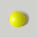 *Mallikappale* Helmi, Swarovski, neon keltainen, 10mm, puoliväliin porattu, tasainen tausta, 1 kpl